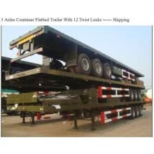3axles 60tons carga acoplado del envase de la capacidad
