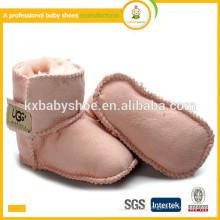 Hersteller 2015 Großhandel warme Mikro-Wildleder Kinder Schuhe weiche Sohle Baby Leder Stiefel Schuhe