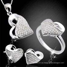 Micro de la manera pavimenta la joyería de la plata esterlina 925 fijada (YS-2124)