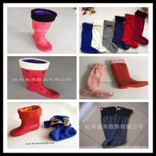 Nova chegada Custom Design Fleece botas de chuva