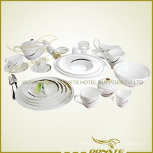 25 PCS Western Tableware Lines Decorated with Golden Stripes