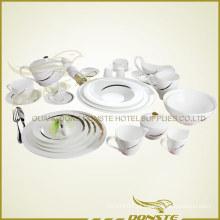 25 PCS Western Tableware linhas decoradas com listras douradas