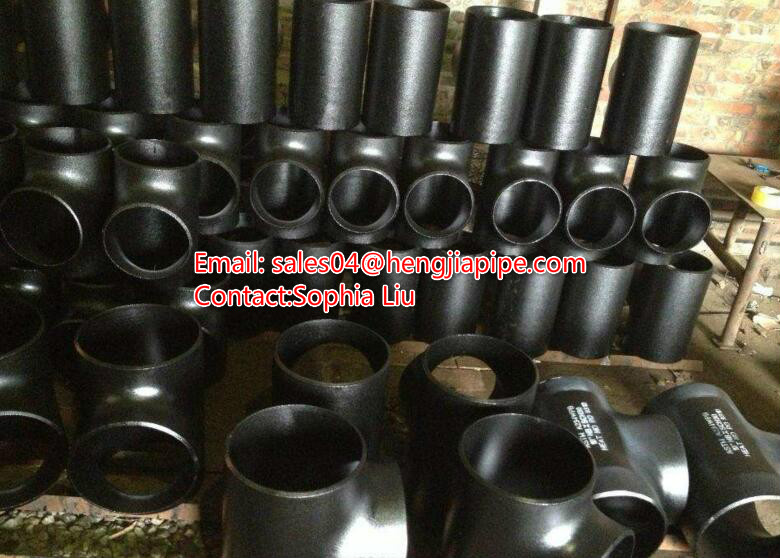 seamless pipe tee black steel