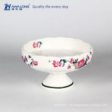 Haagen-Dazs Eiscreme Platte Knochen China heißen Verkauf Keramik Dessert Platte customed Logo
