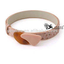 2015 Wholesale Pink Womens Fashion PU Belts With Big Resin Size 2.5*83cm BC4341-3