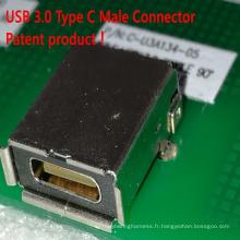 Connecteur femelle USB 3.0 Type C Produit breveté!