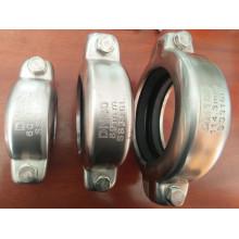 Raccord d'accouplement Victaulic à manchon rainuré à haute pression en acier inoxydable Ss304 et 316