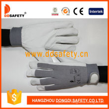 Ddsafety 2018 Pig Leather Working Glove Grey Color