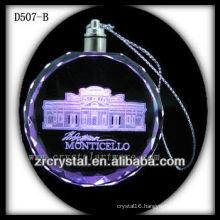 3d Laser Crystal LED Pendant Crystal Gift