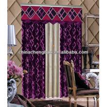 circle jacquard curtain design / embroidery flannelette fabric
