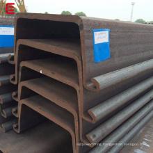 Hot rolled large width sheet pile U type steel shoring steel pile Larssen sheet pile