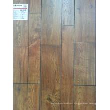 Synchronized Embossed Wax Cover HDF 2 Strip V Bevel Laminate Flooring