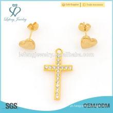 2015 mix estilo ouro amarelo de aço inoxidável conjuntos de jóias online grossista