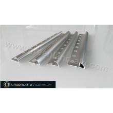 Silver Aluminum Radius Shape Floor Trim