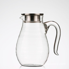 Hiware glass water carafe with lid