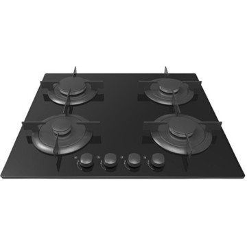 Candy Gas Hob Black Glass 4 Pembakar