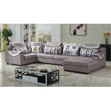 8 Seater U Shape Fabric Sofa for Villa Furniture (882)