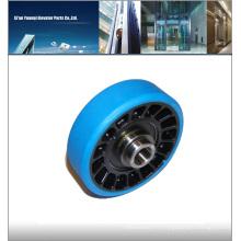 Rouleau de roulement à gradin d'ascenseur GAA290CF1, chaussons de guidage à rouleaux d'ascenseur, rouleau d'ascenseur