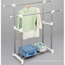 Stainless Steel Double Rod Clothes Hanger