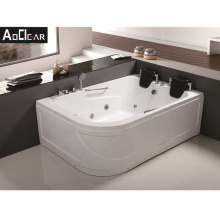 Aokeliya Extra Large and Big Whirlpool Bathtub with 2 Pillows for 2 Person