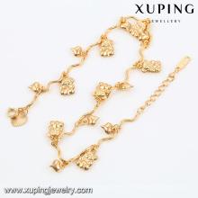 74480-18k projetos de tornozeleira banhado a ouro jóias cadeia tornozeleira, modelos de jóias de ouro 18 k ouro tornozeleira