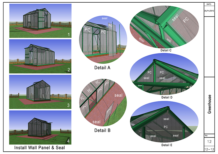 6'×8'×6' pc garden_greenhouse