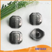 Bouton en alliage de zinc et bouton en métal et bouton de couture métallique BM1646