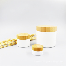 100% Biodegradable  300g disposable compostable Pla cosmetic jar with bamboo lid