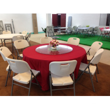 5ft Plastic Folding Round Table, Banquet Round Folding Table, Round Rotating Dining Table