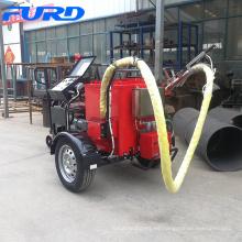 Máquina de sellado de asfalto de grietas en el camino del remolque con tanque de material de 100L
