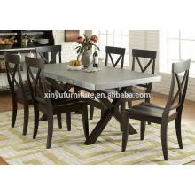 wooden restaurant table set XYN1490