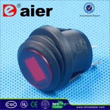 Daier 12v iluminado mini interruptor basculante interruptor de balancín a prueba de agua