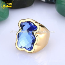 glitter delicate fashion lady 18k lucky stone finger 925 silver ring