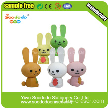 Red Long Ears Rabbit  Shaped Eraser ,Cute school stationery