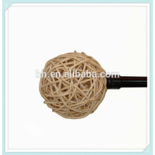 Decorative Rattan Cane Ball Birdcage Curtain Rod Finials
