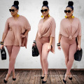 2020 hot sale loose personality  women home fashion two piece dress suit top