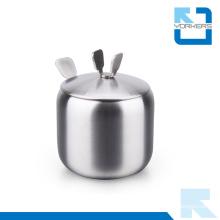 Stainless Steel Spice Jar Salt Sugar Pepper Herbs Storage Pot Condiment Storage Bottle