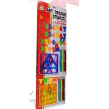 Развивающие игрушки с буквами и линейкой трафаретов