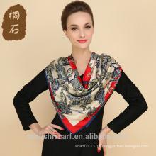 SA429 seda pareo logotipo impressão lenço de seda 100% seda hijab xale e scarvessupplier alibaba china