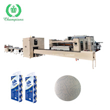 Beautiful Embossing Pattern Lamination Toilet Paper Roll Production Line with Cutting and Package