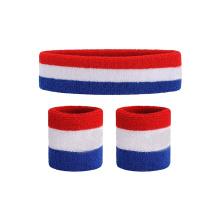 Cheap Elastic Customized Wrist Sports Wristband And  Headband Sweatbands