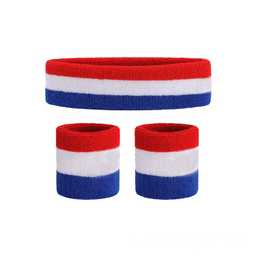 Cheap Elastic Customized Wrist Sports Wristband And  Headband Sweatbands