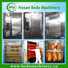 China fábrica fornecimento industrial carne salsicha fumante / carne máquina de fumar / carne fumaça forno para venda com CE