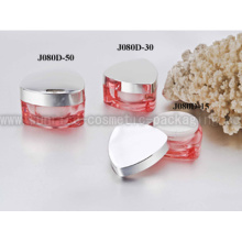 15ml 30ml 50ml Red Triangle Shape Acrylic Cosmetic Packaging