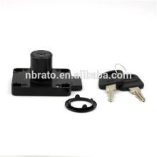 Porte-armoire tiroir sécurité mobilier noir finition verrouillage à long verrouillage