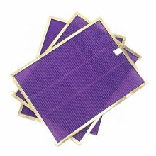 Anti bacterial fabric panel intake air filter replacement hepa filters anti-bacterial cleaning pad