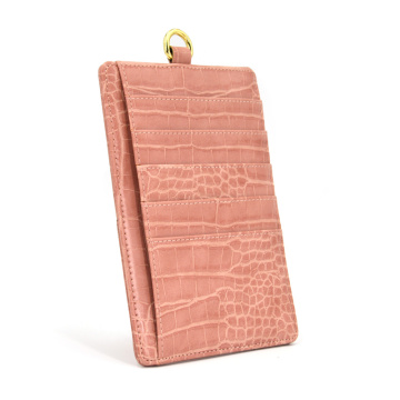 Multifunktionskartensteckplätze Slim Crocodile Leather Card Holder