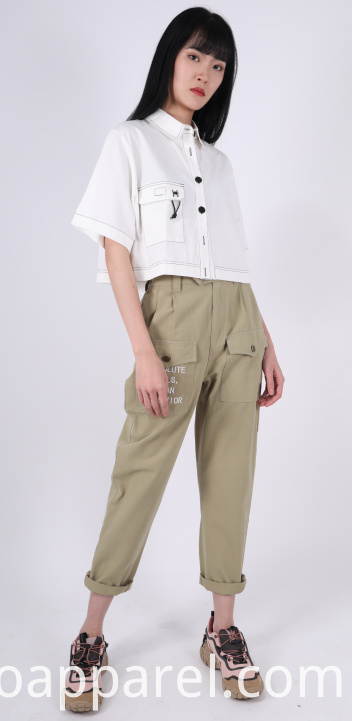 HIGH WAIST TROUSERS WITH PLEATS