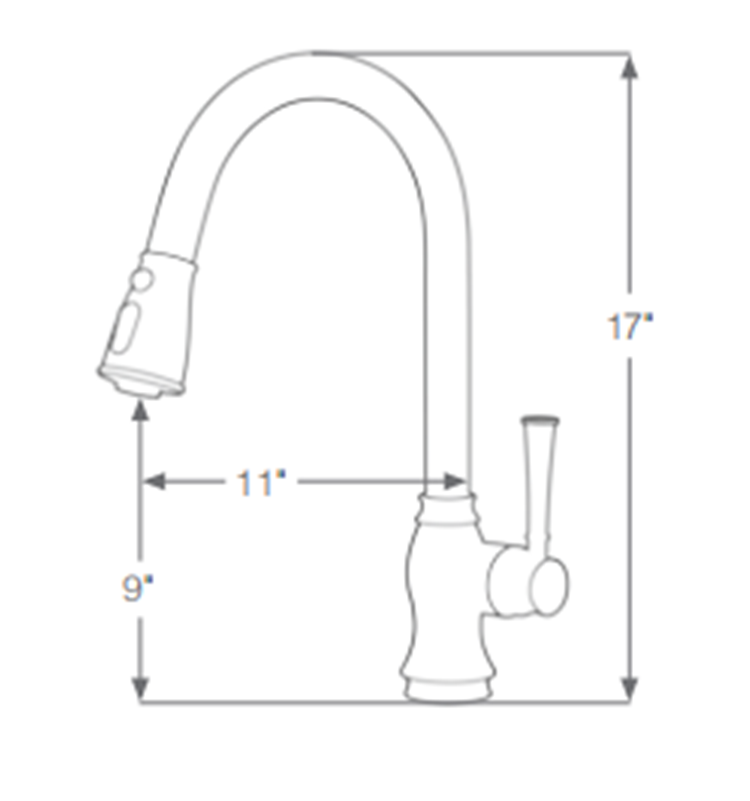 Stainless Steel Pull Out Kitchen Tap
