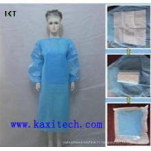 Fournisseur chirurgical non tissé jetable stérile de robe SMS Kxt-Sg08